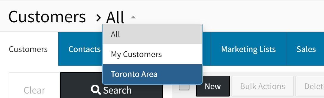 customer smartlist