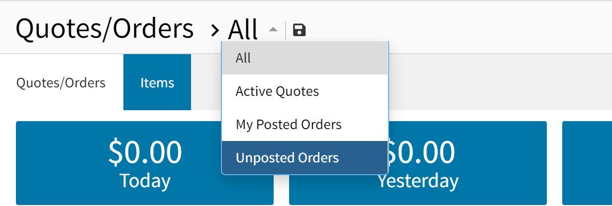 orders smartlist