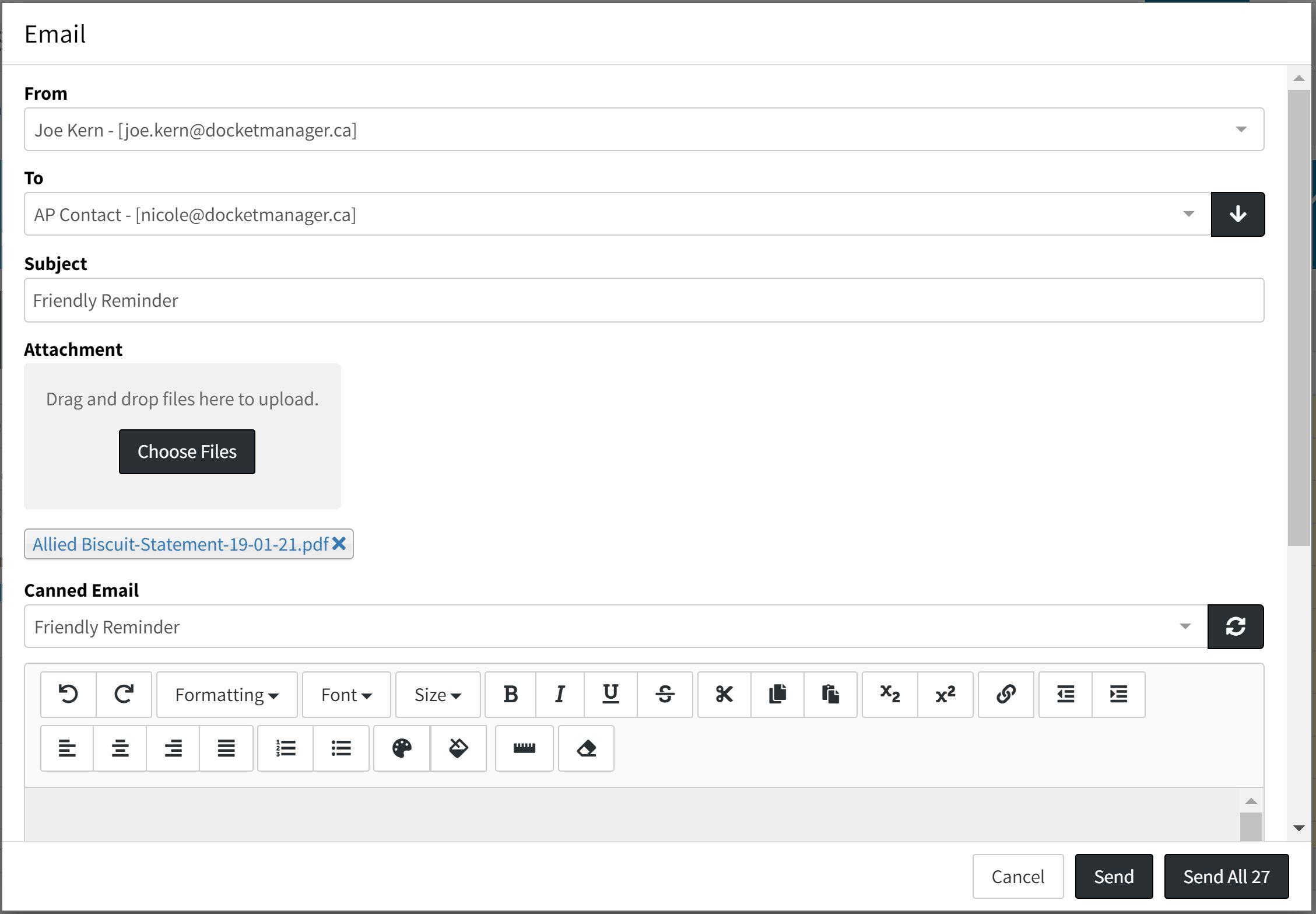 Bulk Email