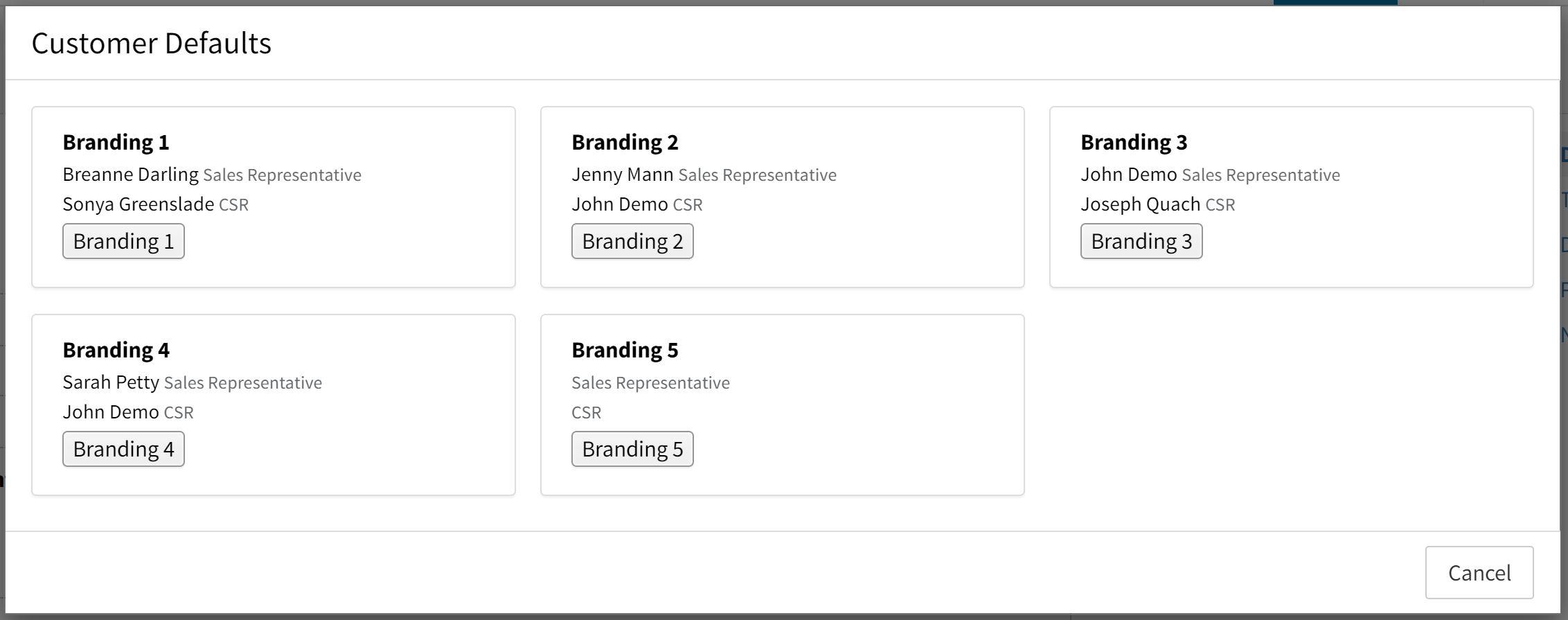 branding customers